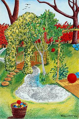 Wall Art - Drawing - Garden # 1 by Zuzana Vass