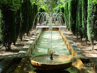 Photograph - Garden And Fountain In Palma De Majorca by Art Photography