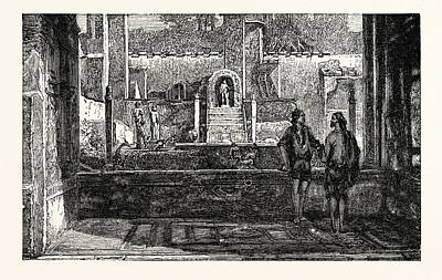 Garden And Fountains Of The House Of Lucretius Art Print by English School
