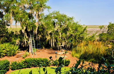Photograph - Garden And Marsh by Ginger Wakem