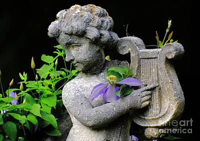 Garden Ornament Photograph - Garden Angel by Charline Xia
