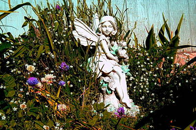 Garden Angel Art Print by Mavis Reid Nugent