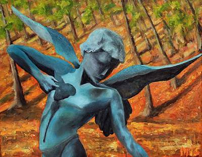 Painting - Garden Angel Of Tower Hill by Michael Saunders