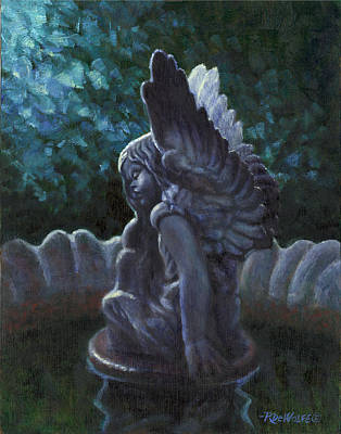 Garden Angel Original by Richard De Wolfe