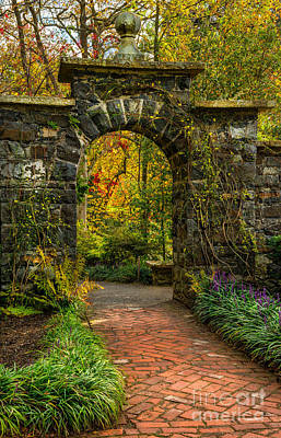 North Wales Digital Art - Garden Arch by Adrian Evans