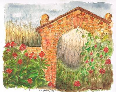 Los Angeles Landscape Painting - Garden Arch by Carlos G Groppa