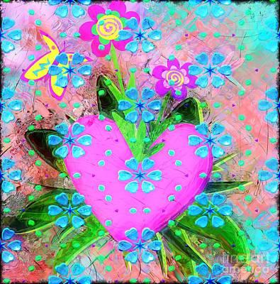 Digital Art - Garden Art - Abstract  by Liane Wright