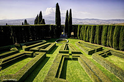 Photograph - Garden At La Foce by Fran Gallogly