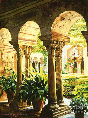 Selecting Painting - Garden At Saint Remy Provence by David Lloyd Glover