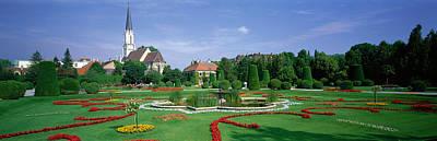 Water Garden Photograph - Garden At Schonbrunn Palace Schloss by Panoramic Images