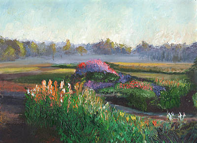 Garden At Sunrise Art Print by William Killen