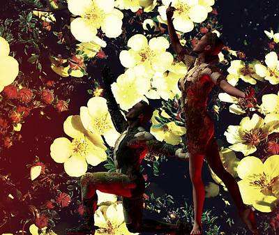 Digital Art - Garden Ballet by Nancy Pauling