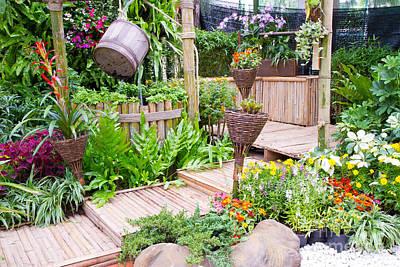 Garden Beautiful Art Print by Boon Mee