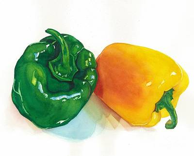 Bell Pepper Painting - Garden Bells by Barbara Jewell