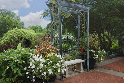 Photograph - Garden Bench by Ann Powell