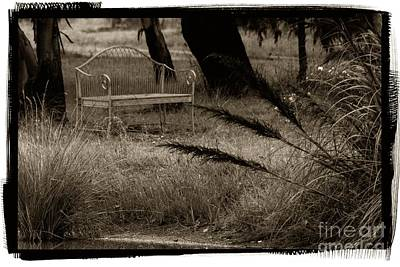 Photograph - Garden Bench by Fran Woods