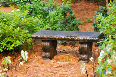 Photograph - Garden Bench by Ginger Wakem