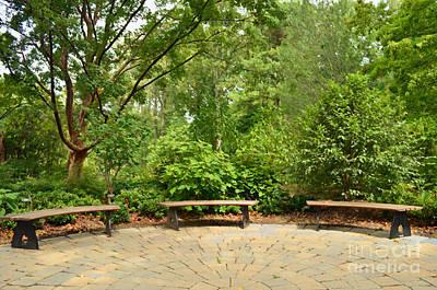 Digital Art - Garden Benches by Eva Kaufman