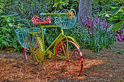 Photograph - Garden Bike At William And Mary by Jerry Gammon