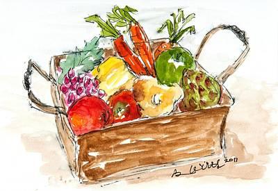Pepper Painting - Garden Bounty by Barbara Wirth