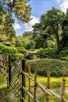 Bamboo Photograph - Garden Bridge by Adrian Evans