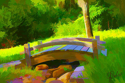 Painting - Garden Bridge by Gerry Robins