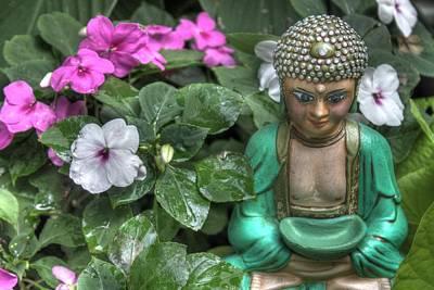 Garden Buddha Art Print by Jane Linders