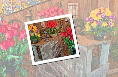 Shed Digital Art - Garden Cart Out To Lunch by Valerie Garner