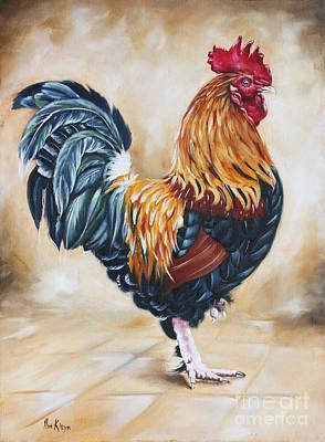 Garden Center's Rooster Art Print by Ilse Kleyn
