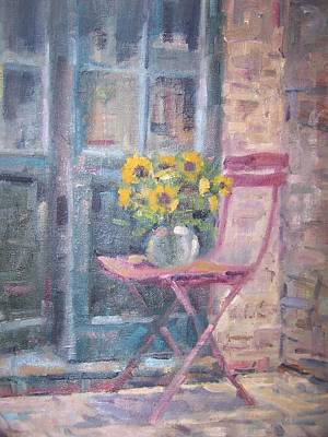 Painting - Garden Chair by Bart DeCeglie