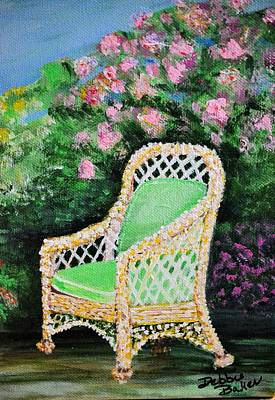 Art Print featuring the painting Garden Chair by Debbie Baker