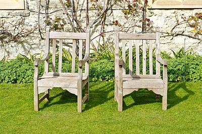 Garden Chairs Art Print