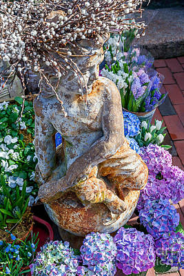 Photograph - Garden Cherub by Susan Cole Kelly