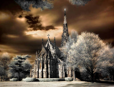 Print featuring the photograph Garden City Cathedral #2 by Steve Zimic