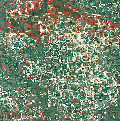 Photograph - Garden City Kansas by USGS Landsat