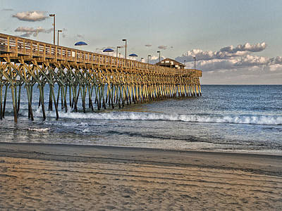 Garden City Pier At Sunset Art Print