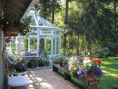 Garden Conservatory Art Print by Pat Yager