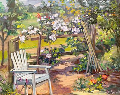Garden Corner Print by Dominique Amendola