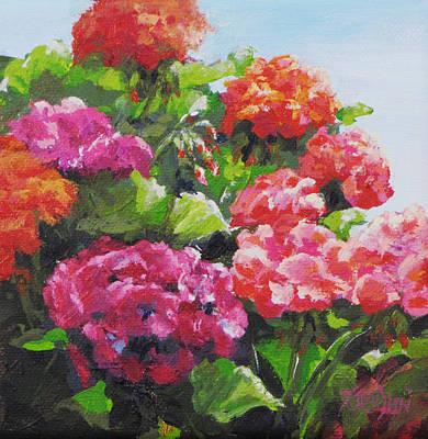 Painting - Garden Corner by Karen Ilari