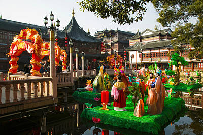 Bazaar Photograph - Garden Decorations By Mid-lake Pavilion by Panoramic Images
