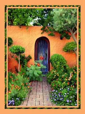 Old Door Digital Art - Garden Delights Mesilla by Kurt Van Wagner