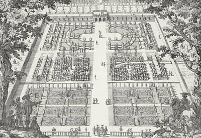 Border Drawing - Garden Design From The Gardens Of Wilton by Isaac de Caus