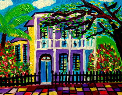 Painting - Garden District New Orleans by Ted Hebbler