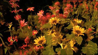 Cosmos Flowers Painting - Garden Edge by Douglas MooreZart