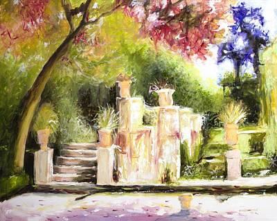 Garden Entrance Original by Melissa Herrin