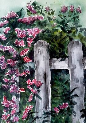 Painting - Garden Fence by Stephanie Sodel