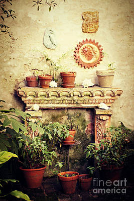Photograph - Garden Fireplace by Valerie Reeves