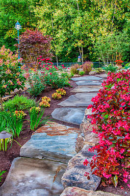 Photograph - Garden Floral Path by Gene Sherrill