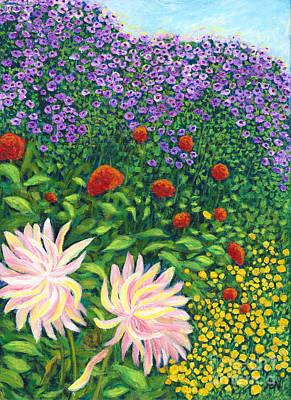 Painting - Garden Flowers by Jingfen Hwu