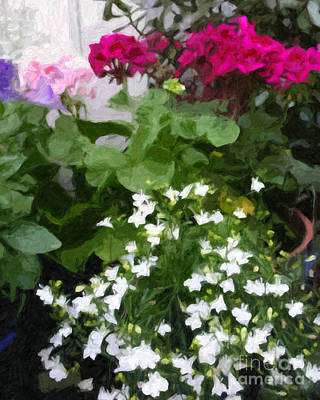 Painting - Garden Flowers by Lutz Baar